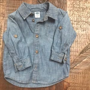 Old Navy Chambray Jean Shirt 6-12 months